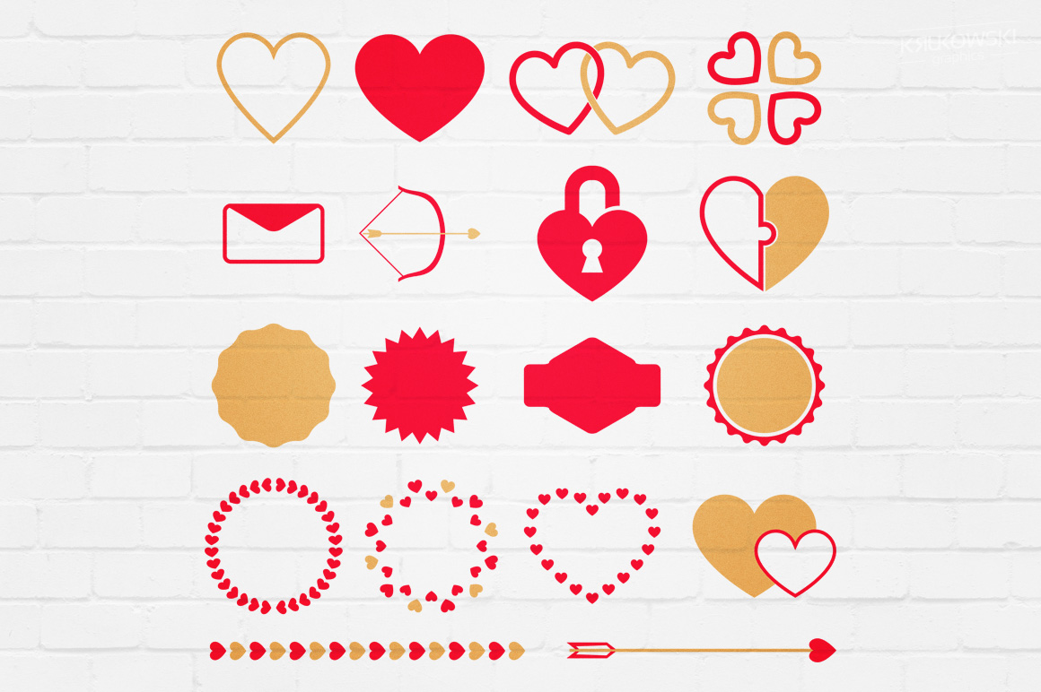 Valentine's Day Love Vector Badges Logos example image 4