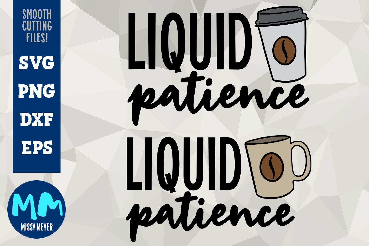 Liquid Patience - coffee SVG design with illustration example image 1