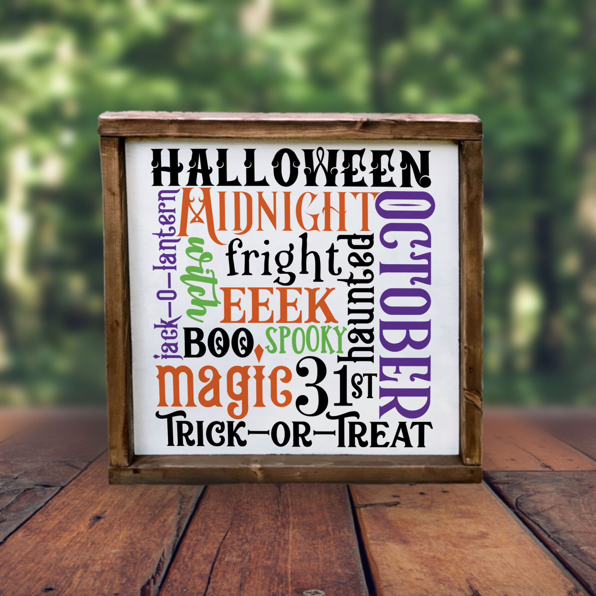 Halloween Word Art SVG For Trick or Treat Bags example image 3