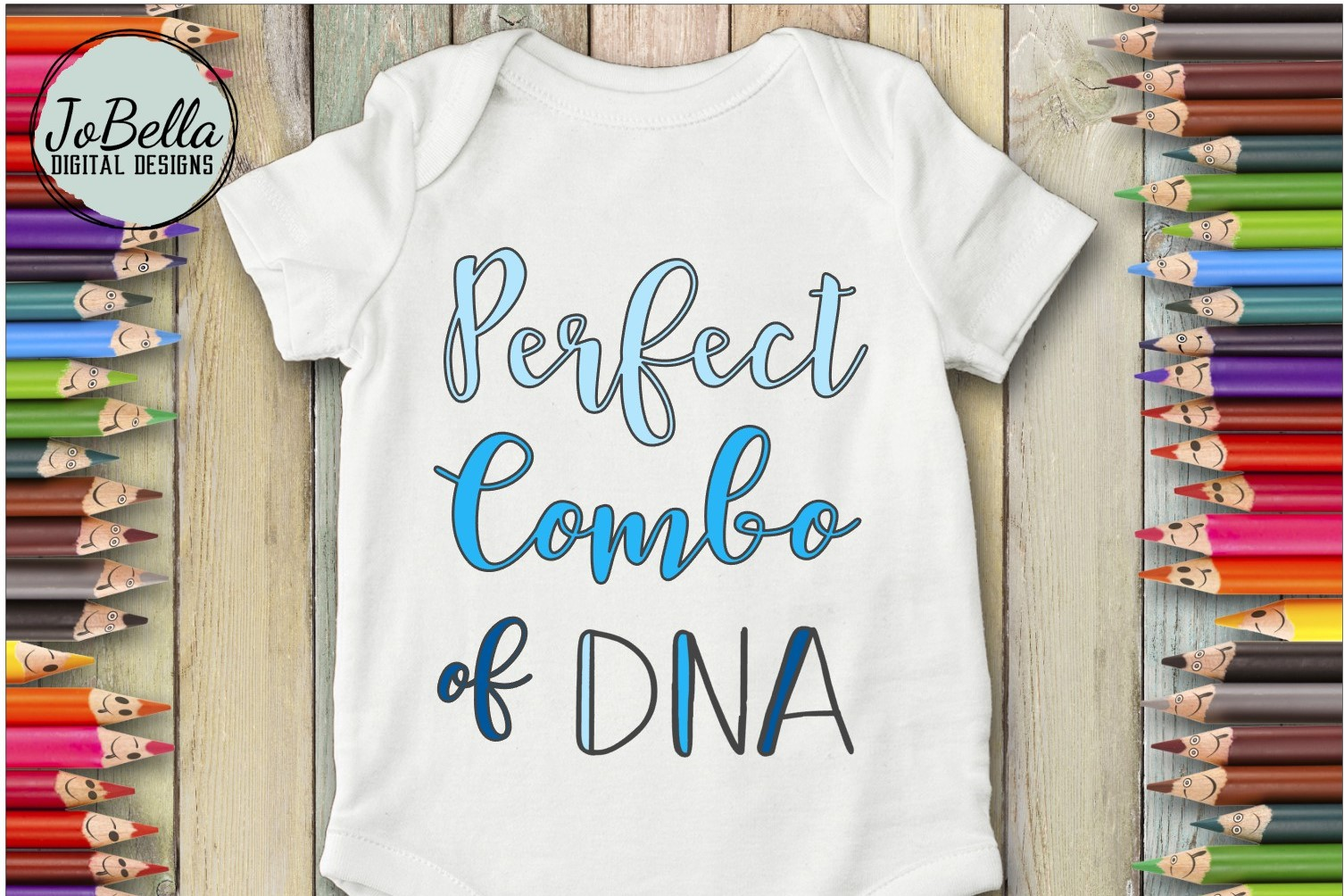 Baby or Kid Shirt SVG - Perfect Combo of DNA Girl and Boy example image 3