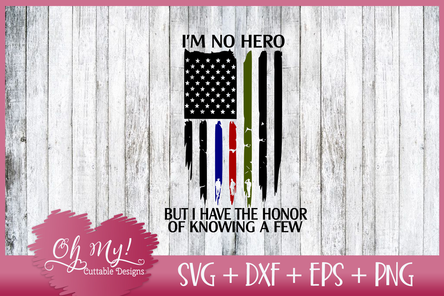 I'm No Hero But I Have The Honor Of Knowing A Few FLAG example image 2