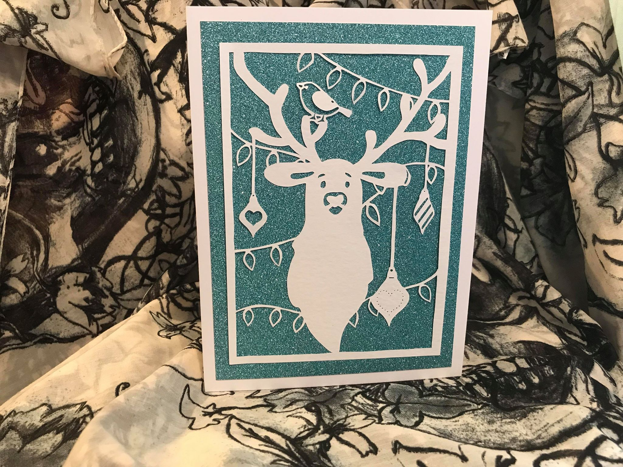 Bird and Bear's Xmas Collection x 8 papercutting templates example image 6