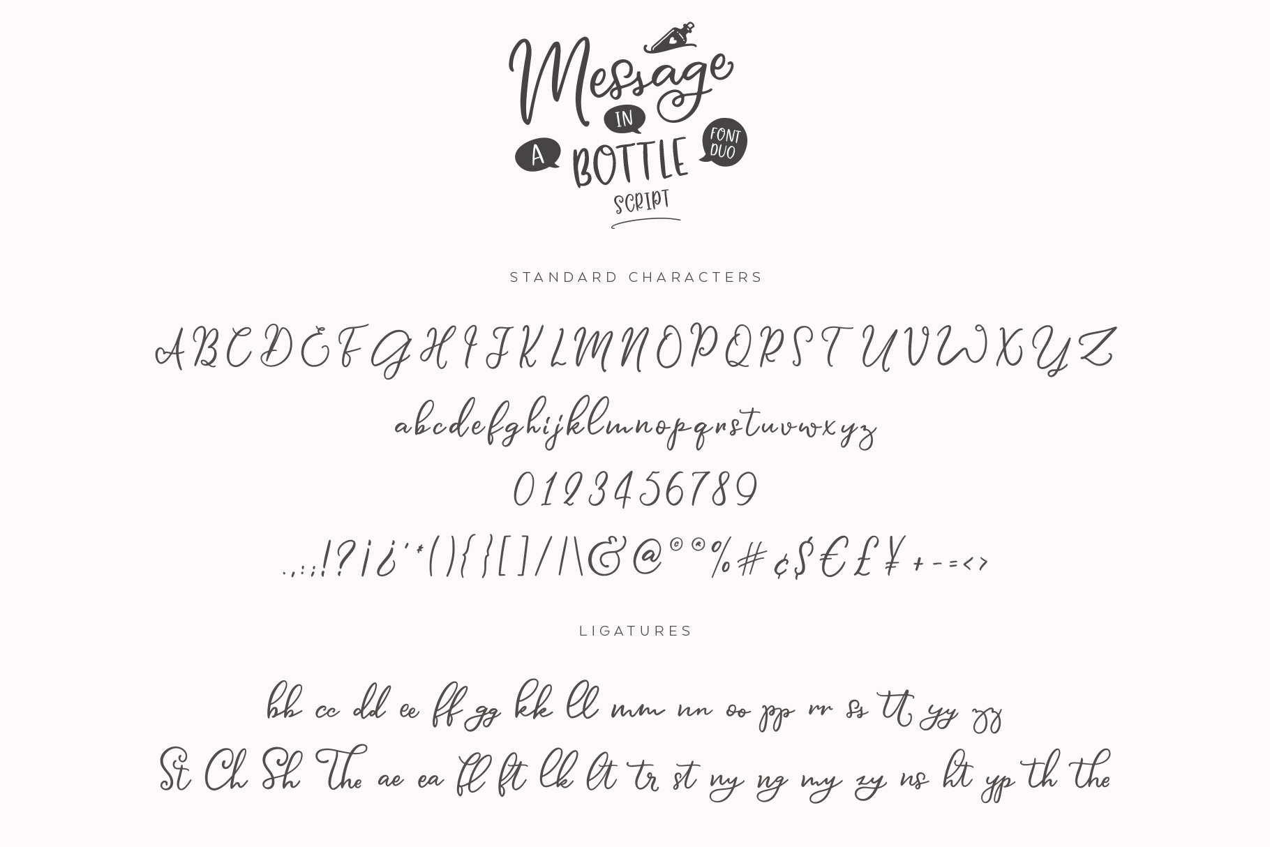 Message In A Bottle Font Duo And Extras example image 15