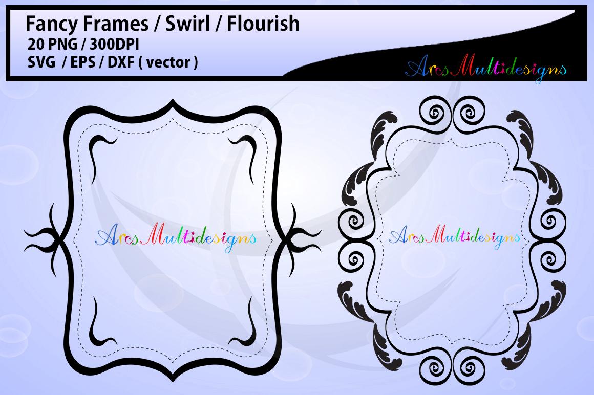 Fancy frames SVG/ fancy labels SVG / frames EPS/ borders / label digital set / borders / backgrounds / frames cut file / empty label frame example image 4