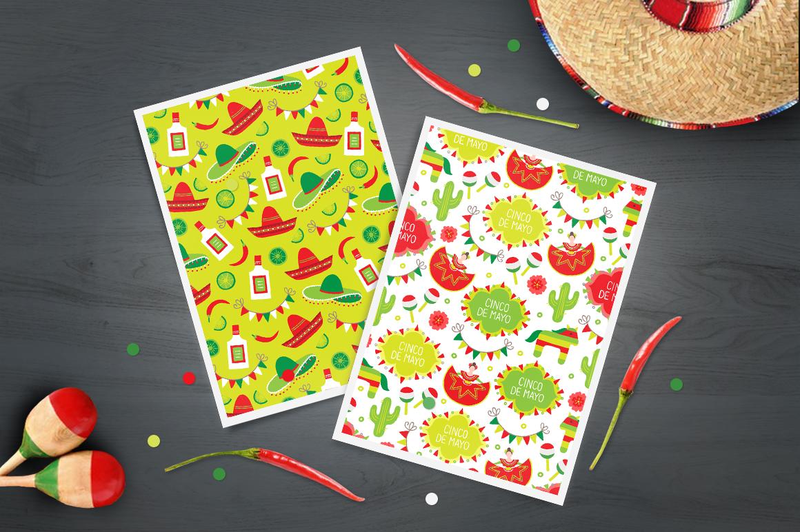 12 Cinco de Mayo Seamless Patterns example image 6