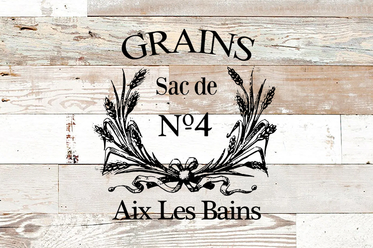Vintage French Grain sack printable sublimation PNG SVG EPS example image 2