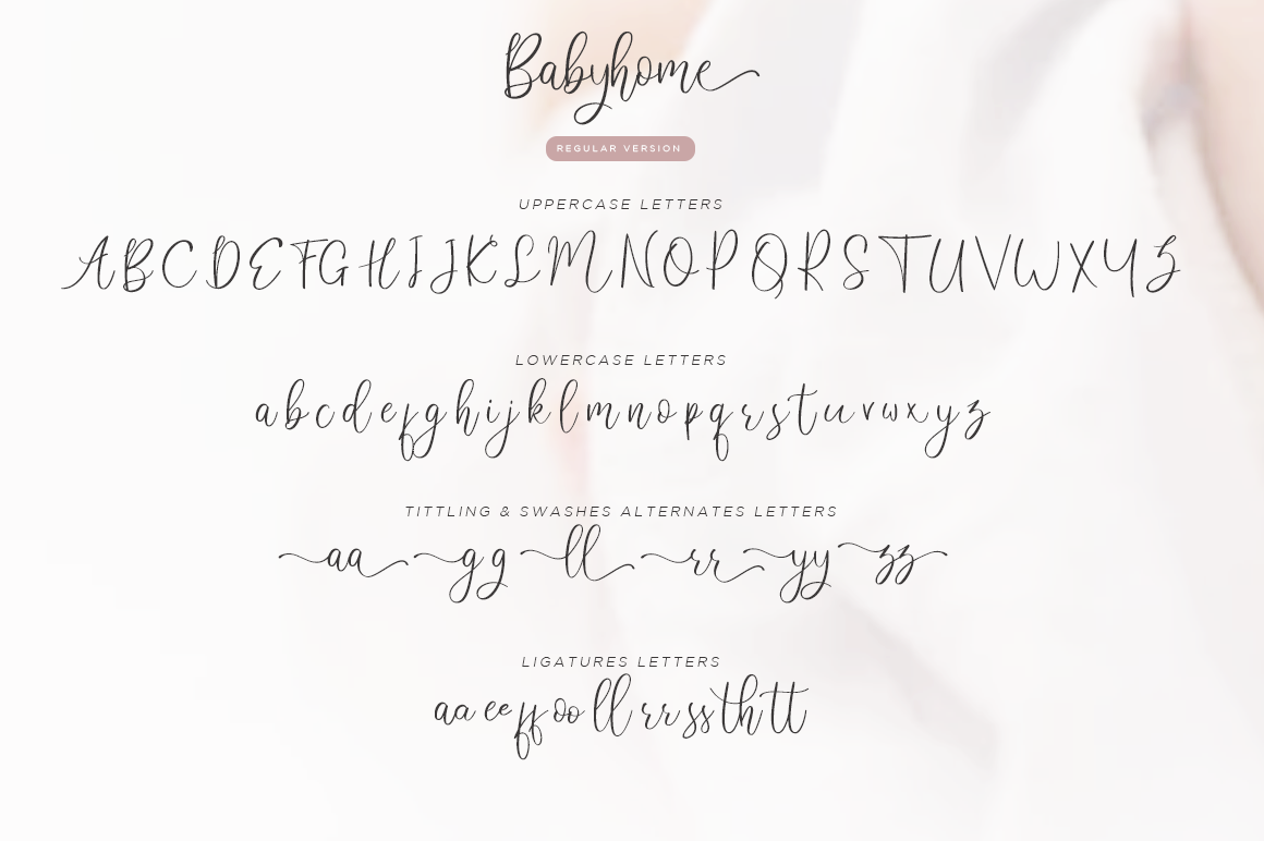 Babyhome Elegant Script in Two Version example image 10