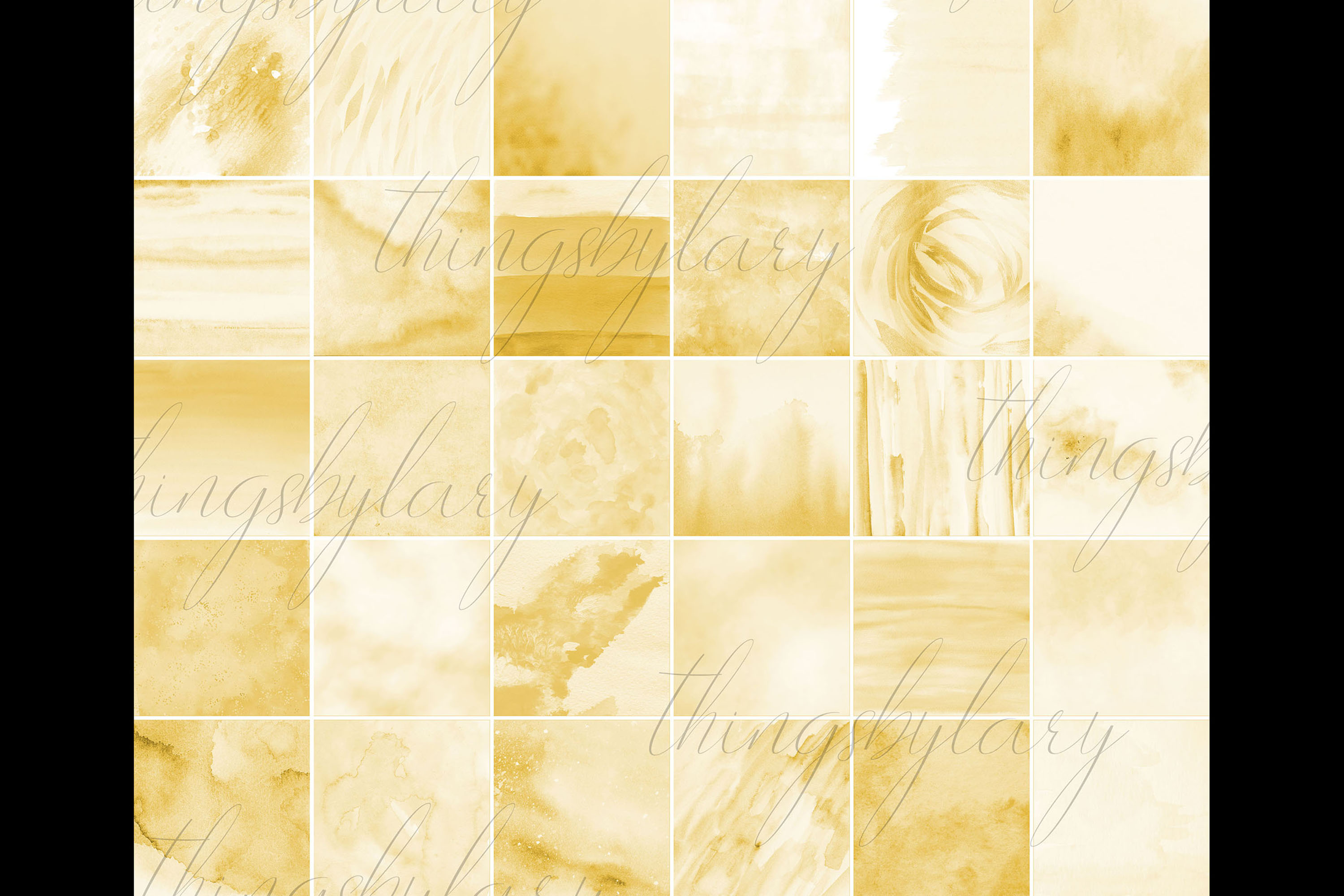 30 Ombre Gold Paint Brush Stroke Watercolor Digital Papers example image 10