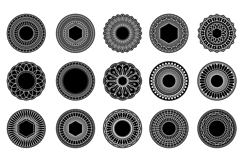 100 Geometric Costum Shapes - CSH example image 8