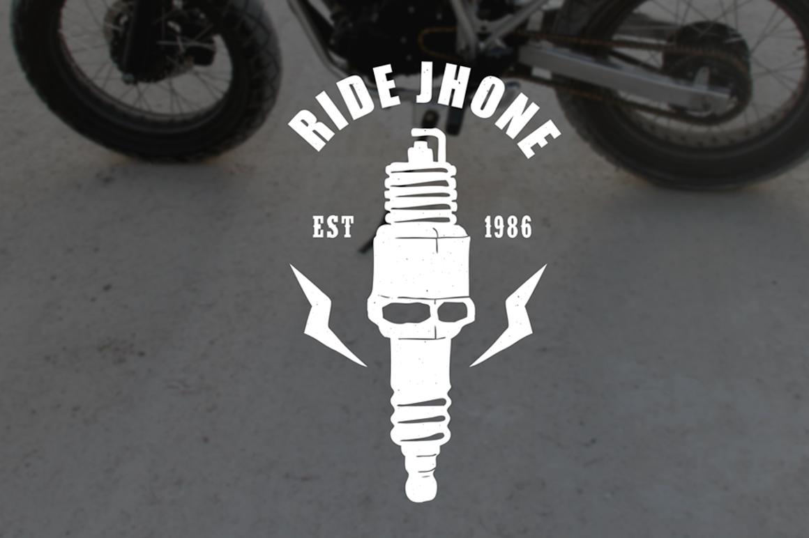 Vintage Badges Motorcycle example image 4