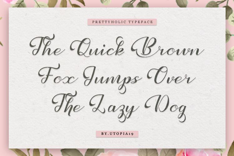 Prettyholic |Script Typeface example image 10