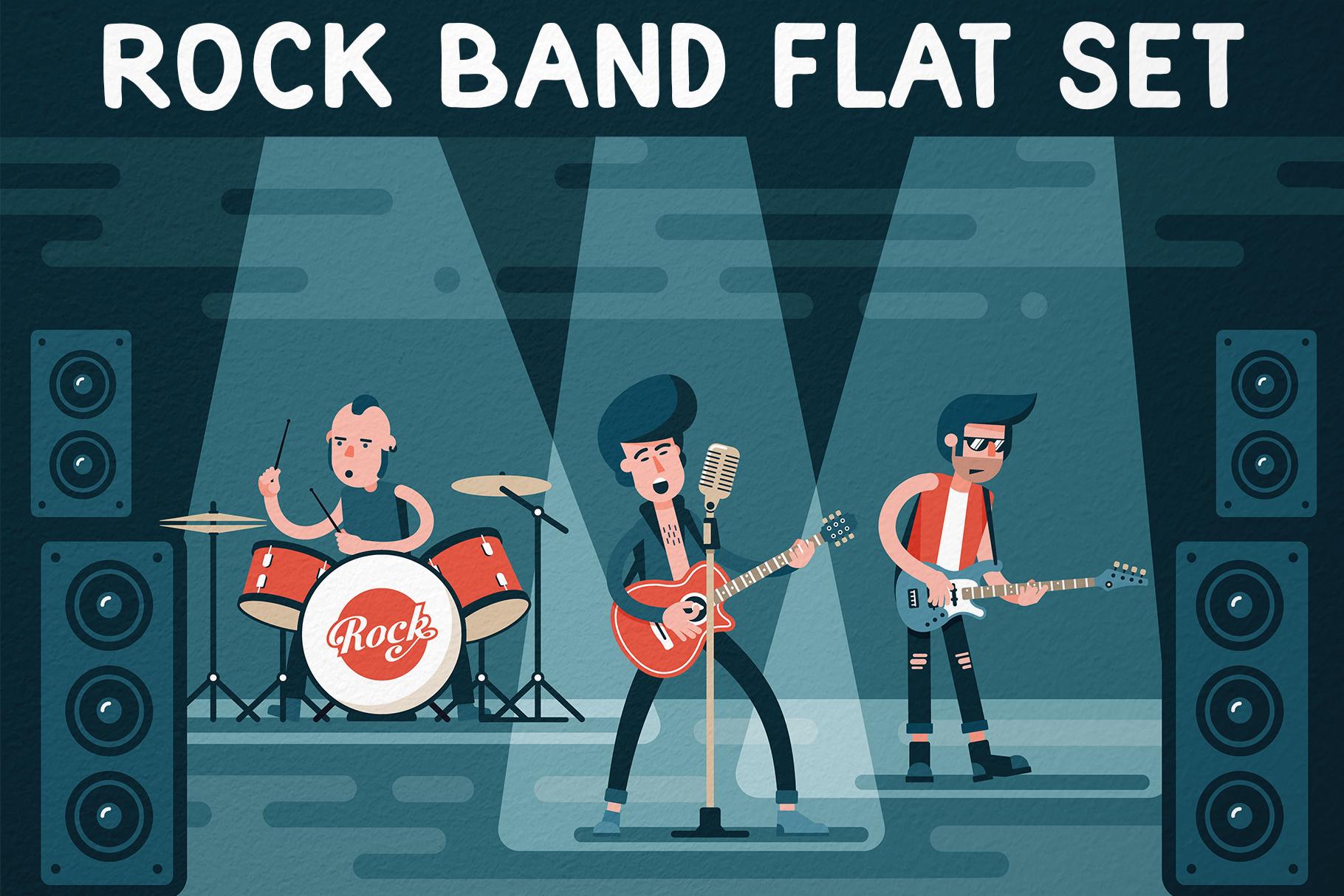 Rock Band Flat Set example image 1