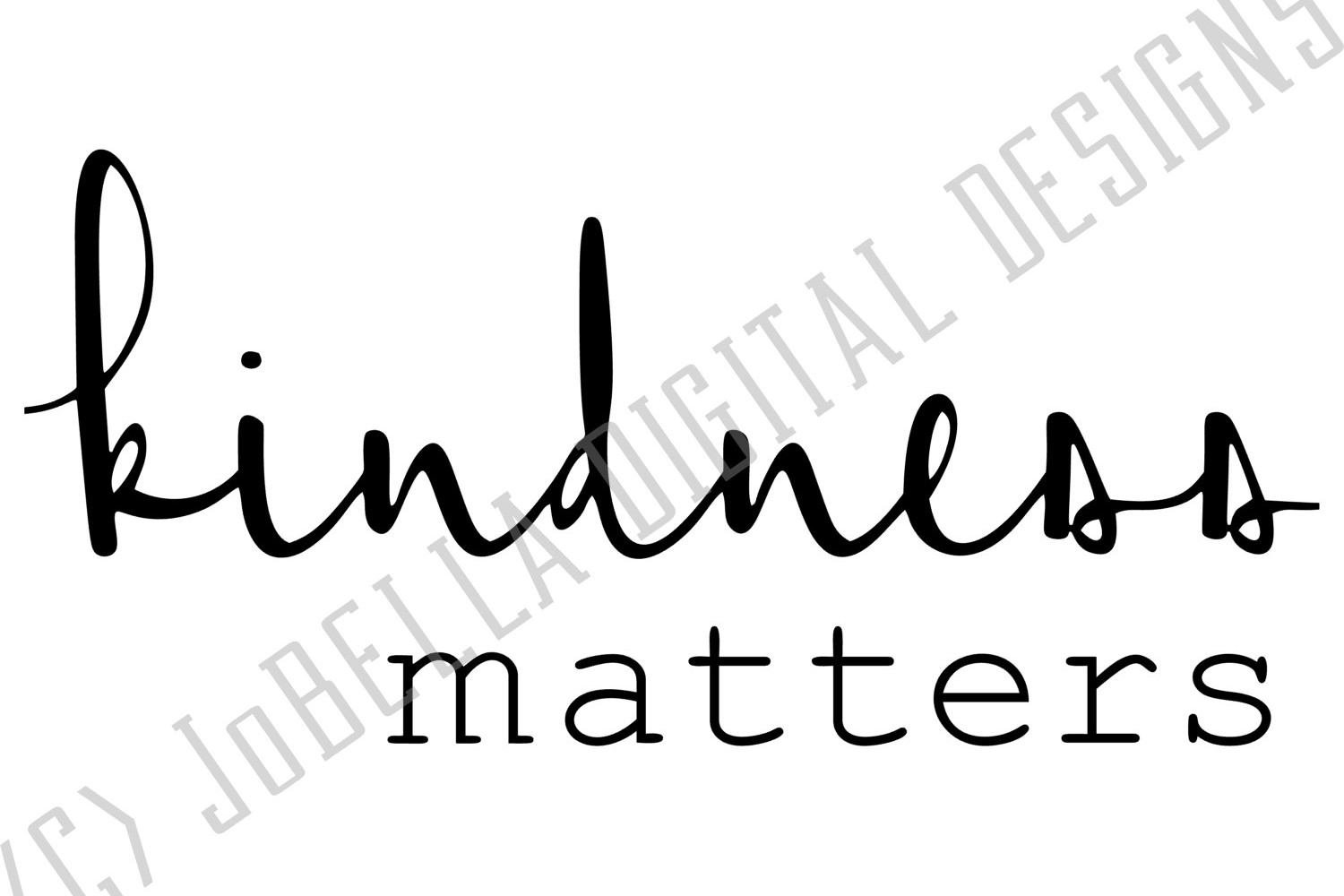 Kindness Matters SVG and Printable example image 3