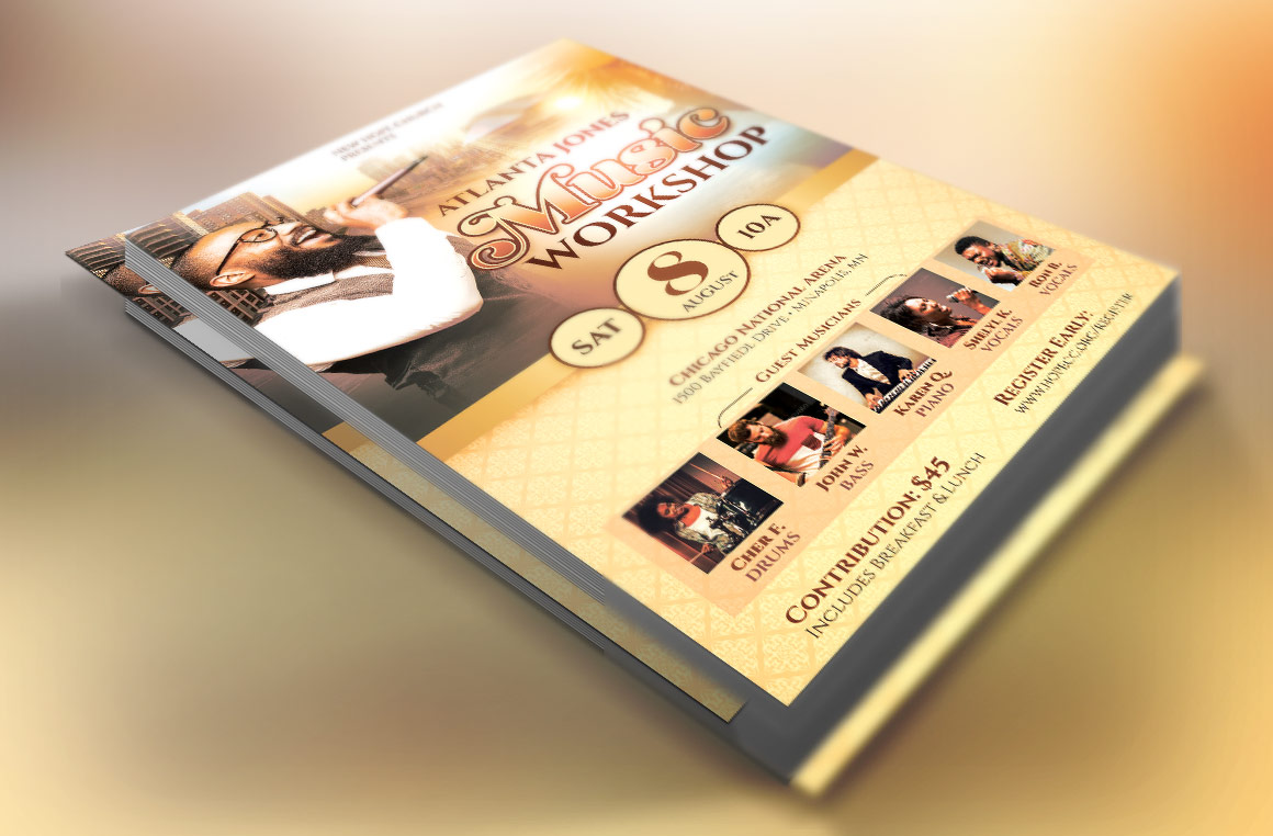 Church Music Workshop Flyer Template example image 2