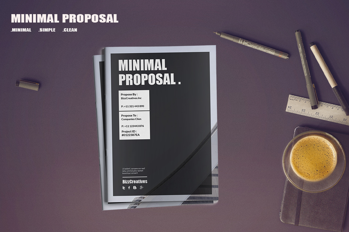 Minimal Proposal Template example image 1