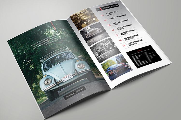 Automotive Magazine Template - Otomat example image 2