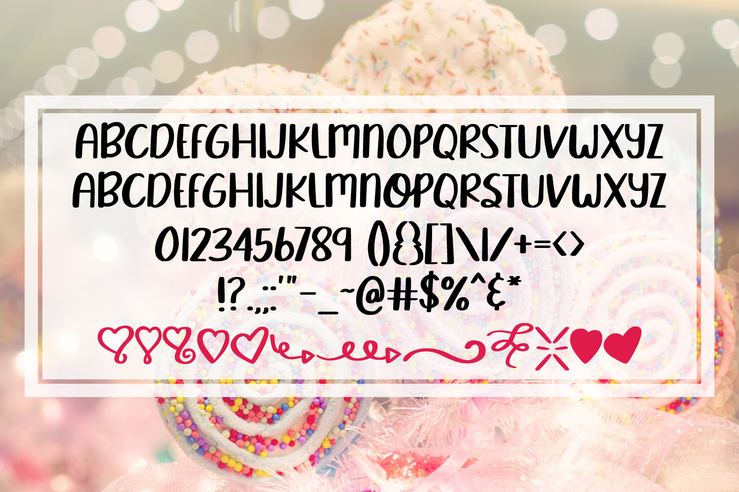 Sweet Lover - A Smooth Hand Lettered Font w/ Doodles by DWS example image 2
