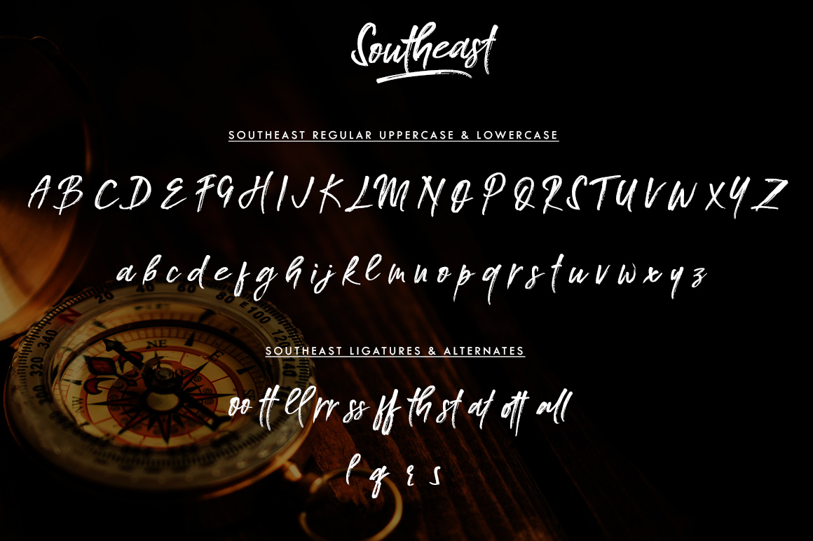 Southeast Brush Font example image 7
