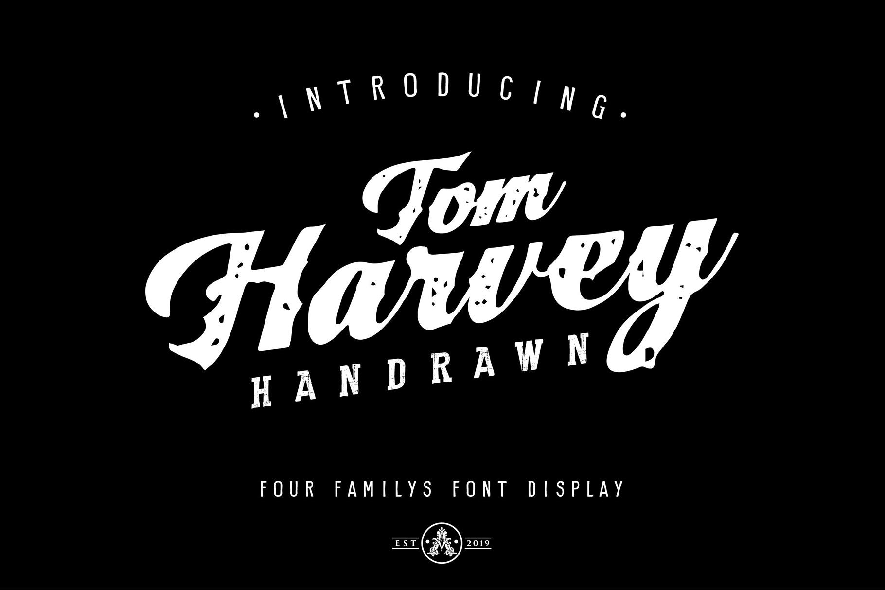 Tom Harvey Quartet Display Font example image 1