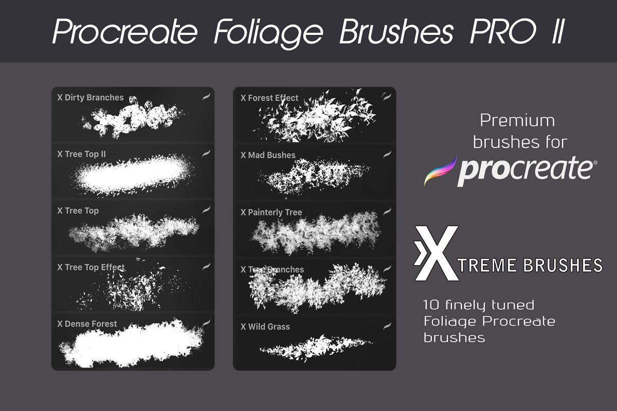 Procreate Foliage Brushes PRO II example image 2