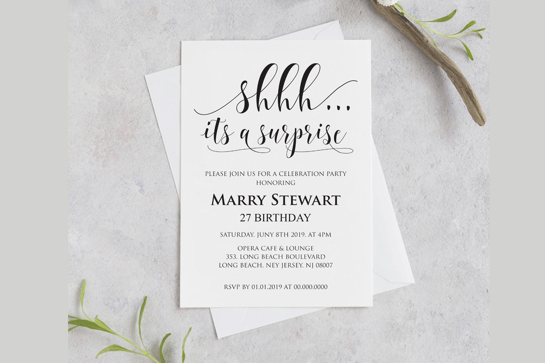 Birthday Invitations Template example image 1