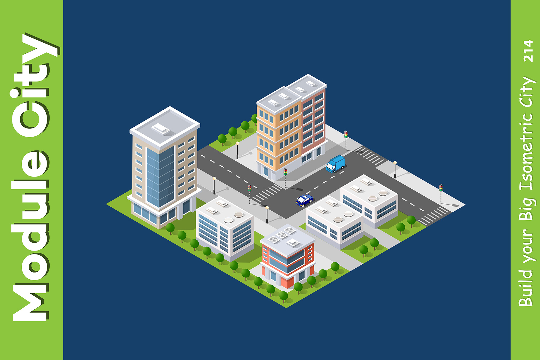Isometric set module city example image 12