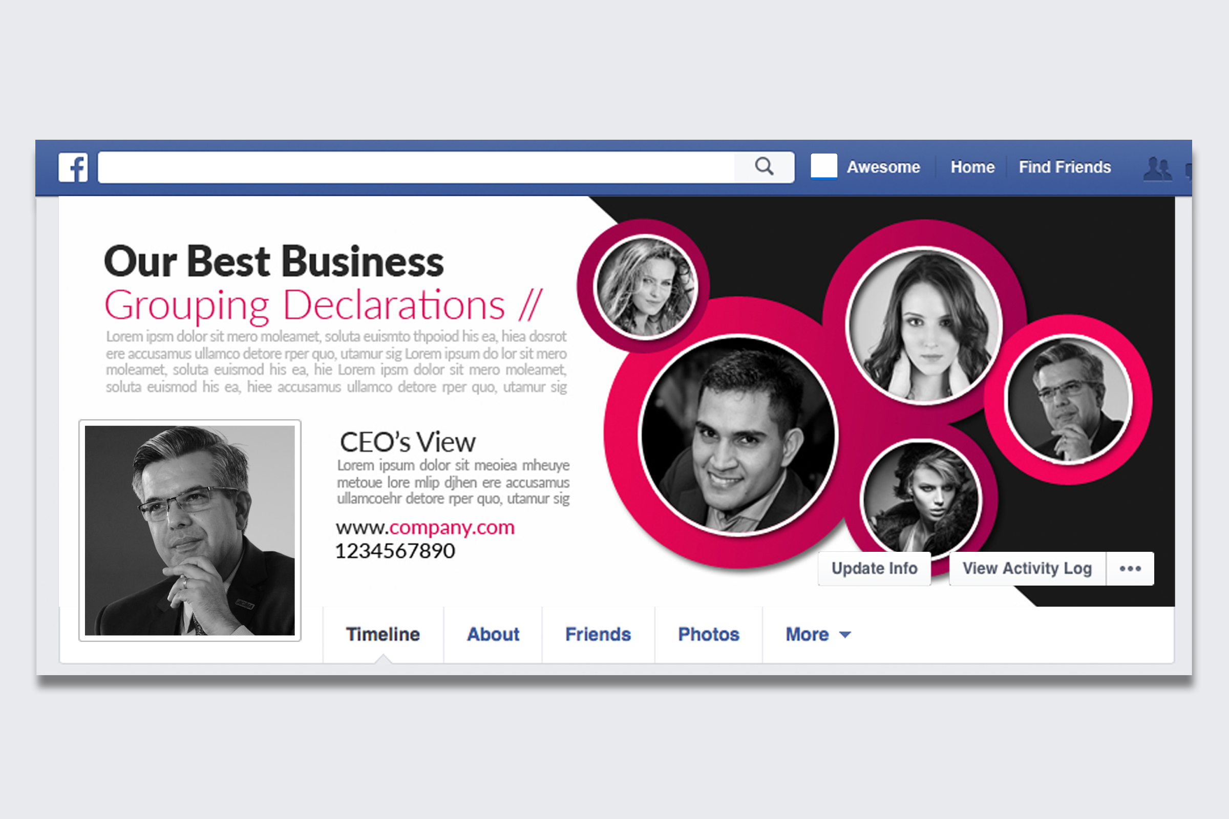 Business Facebook Timelines 09 example image 1