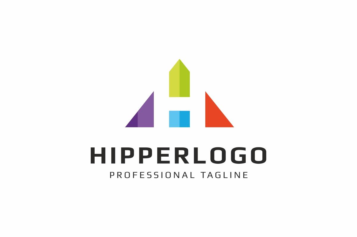 Hipper H Letter Logo example image 1