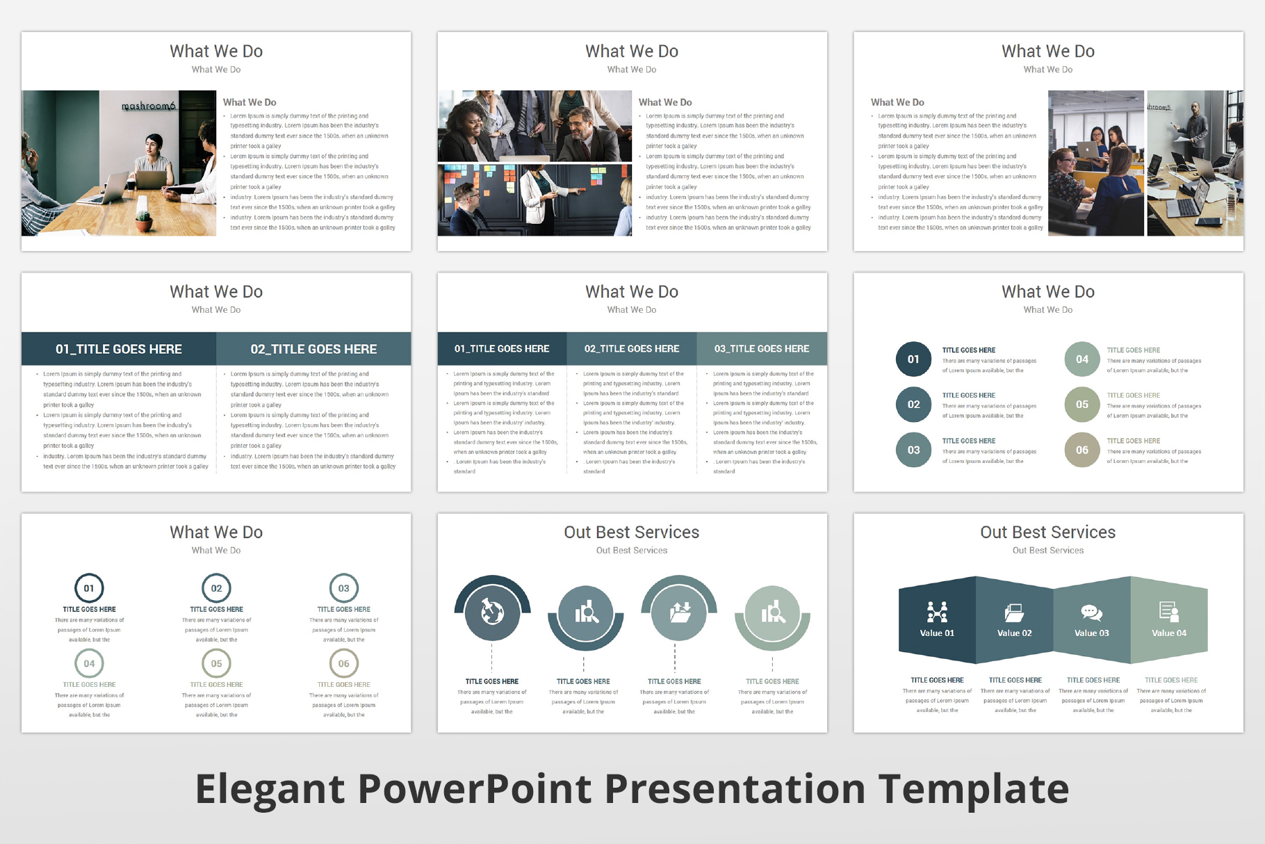 Elegant multipurpose PowerPoint Presentation Template example image 10