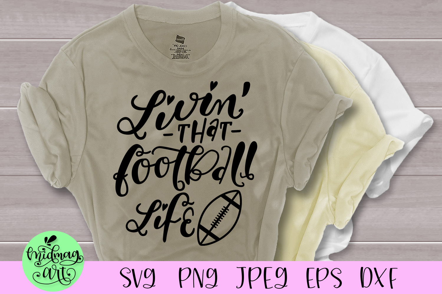 Livin that football life svg, football svg, fall svg example image 1