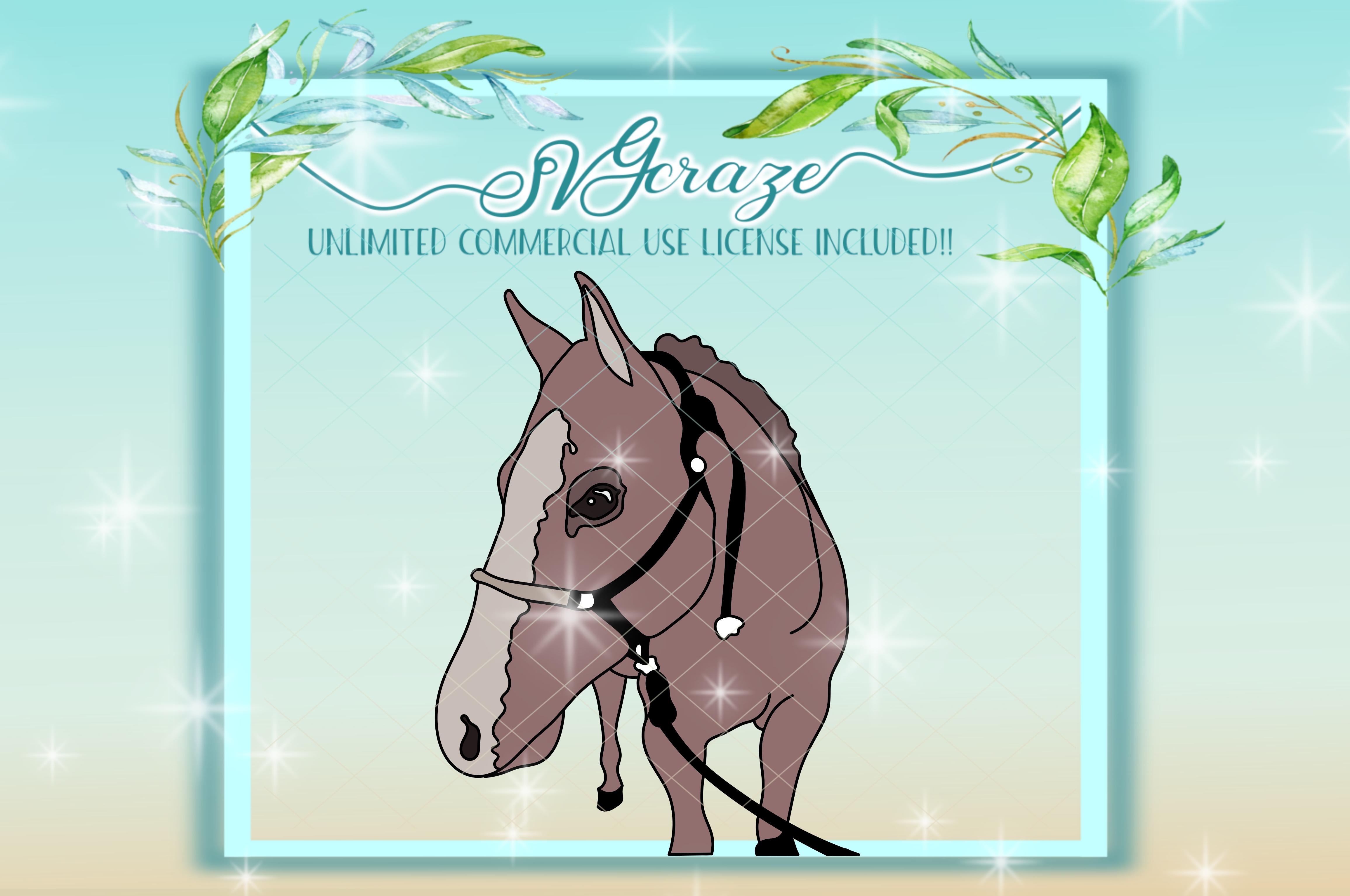 Horse Mandala Zentangle Svg Dxf Files For Cricut example image 3