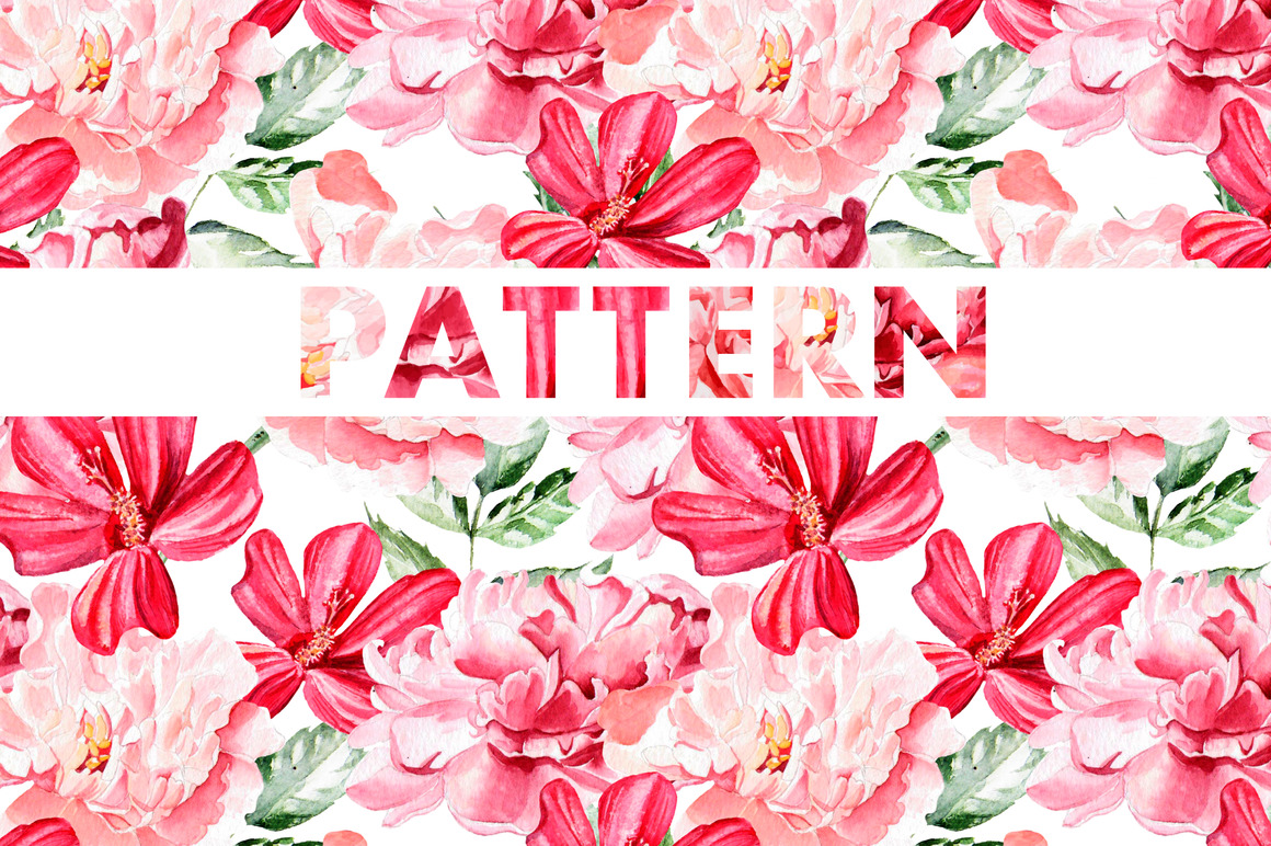 8 bright watercolor patterns example image 2