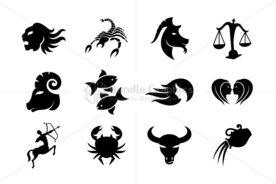 Tribal Style Zodiac Signs - Iconic Set example image 2