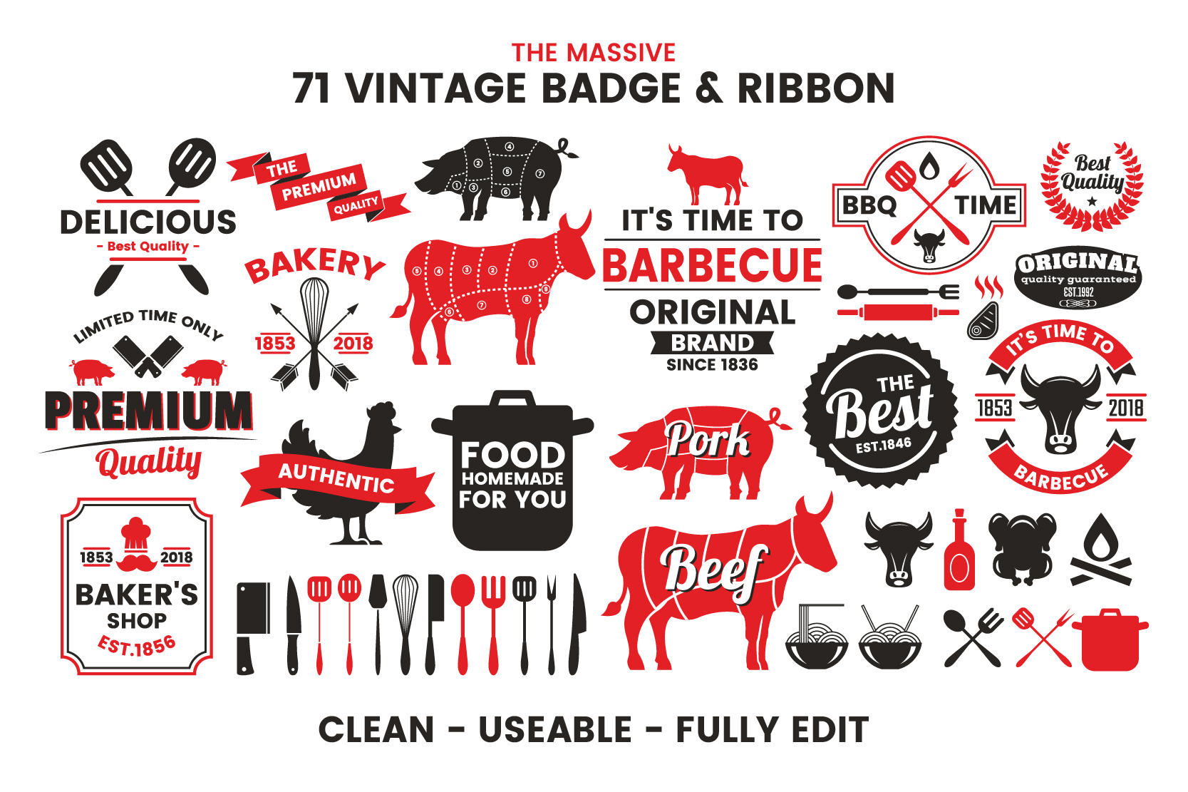 71 VINTAGE BADGE & RIBBON Vol.7 example image 3