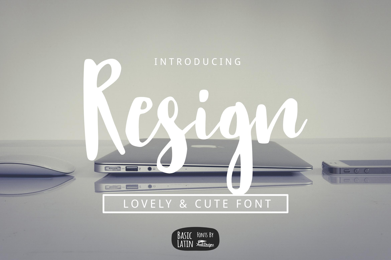 Resign Modern Brush Font example image 1