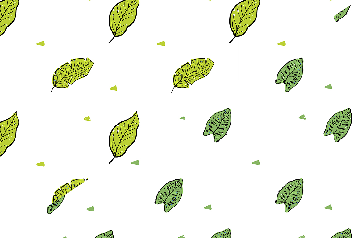 Tropical leaves set example image 9