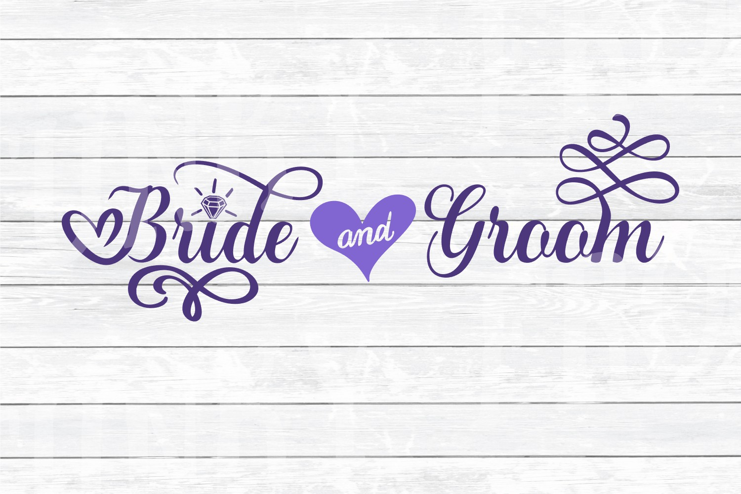Wedding Party Design Bundle - SVG Cut Files for Crafters example image 2