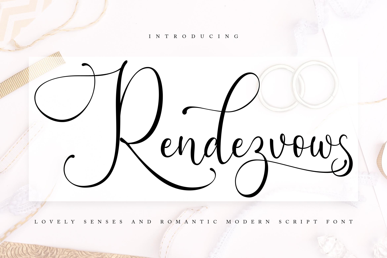 Rendezvouws | Modern Script Font example image 1