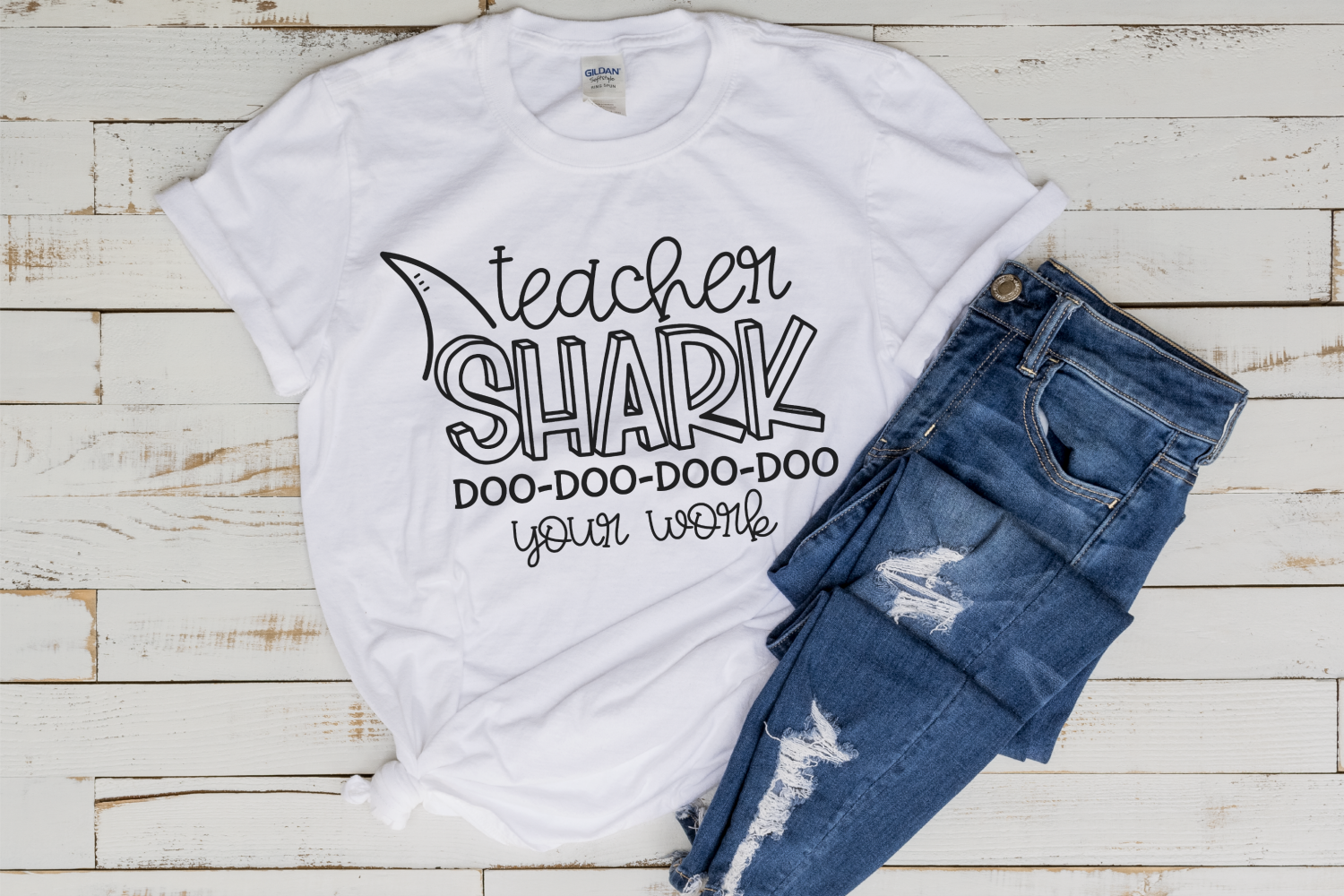 Homework - Back To School - Teacher Shark SVG example image 2