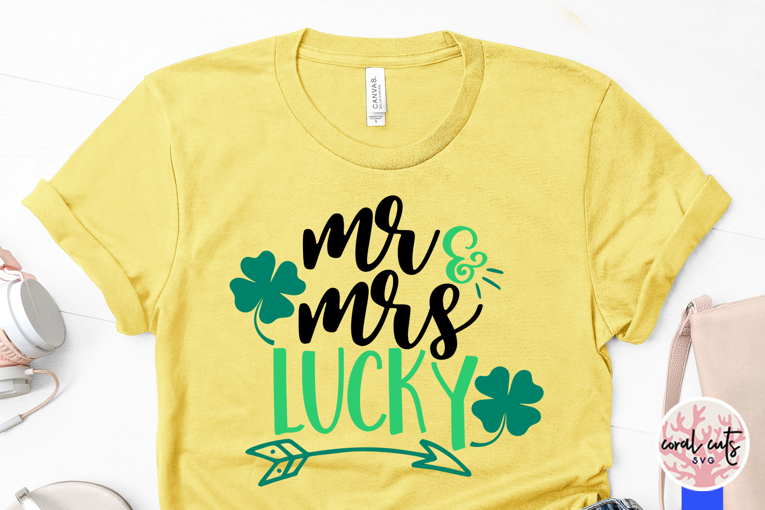 Mr & Mrs Lucky - St. Patrick's Day SVG EPS DXF PNG example image 3