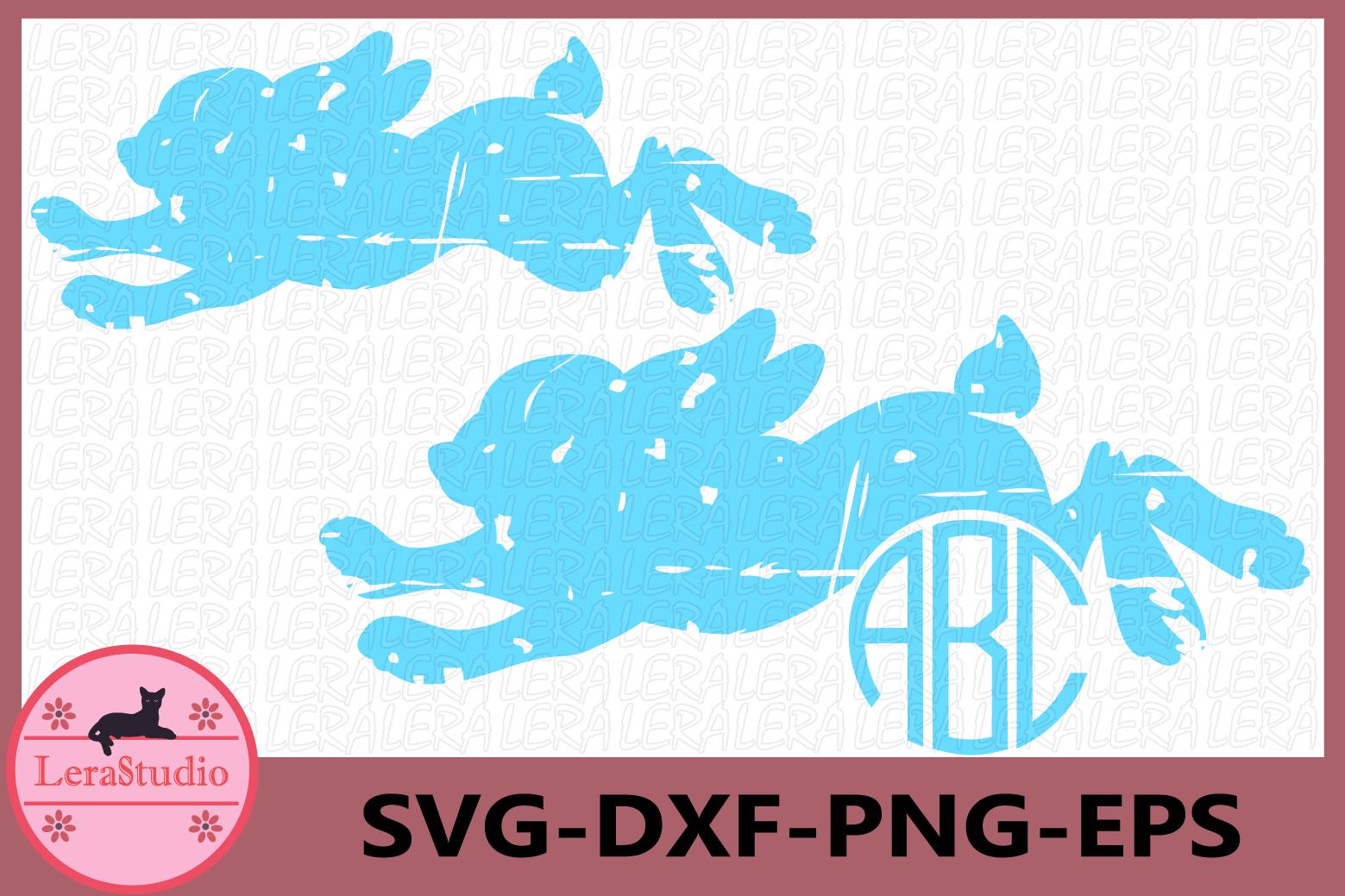 Bunnies SVG, Grunge SVG, Rabbits Grunge svg, Rabbits example image 1