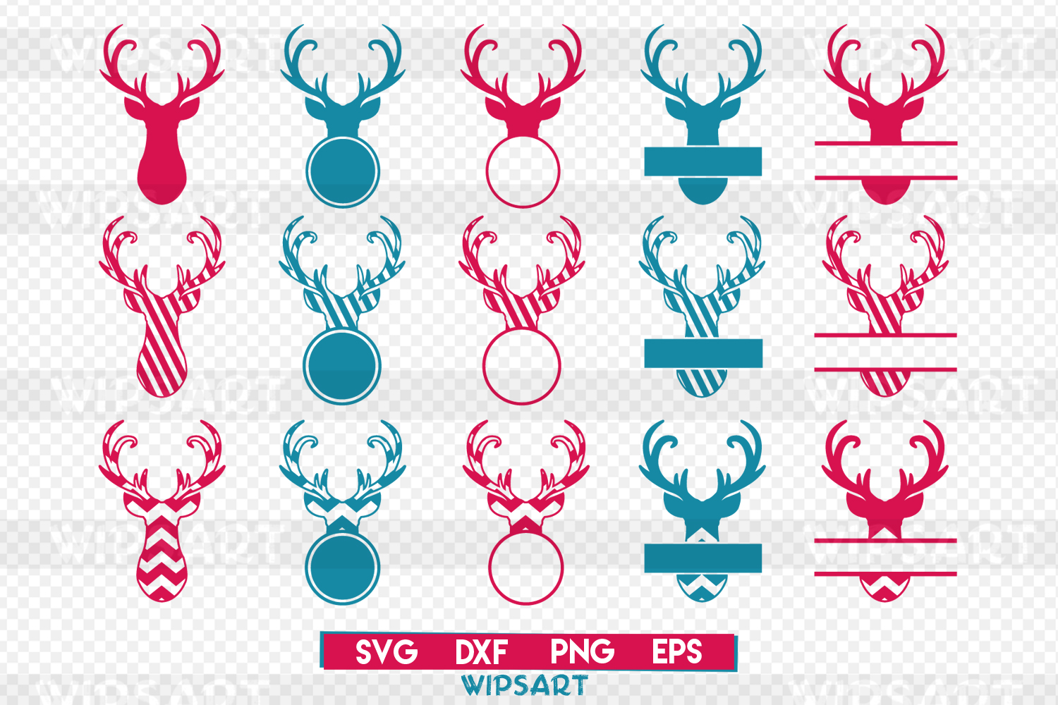 SALE! Deer svg, Deer Monogram svg, deer monogram text svg example image 1