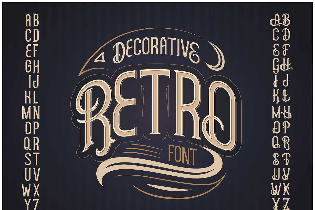 Hudson OTF vintage label font. Uppercase only! example image 3