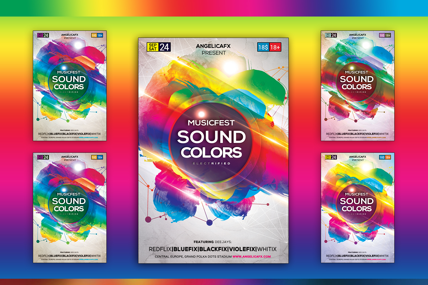 Music Fest Sound Colors example image 1