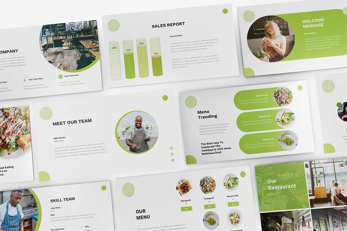 Food Powerpoint Template example image 7