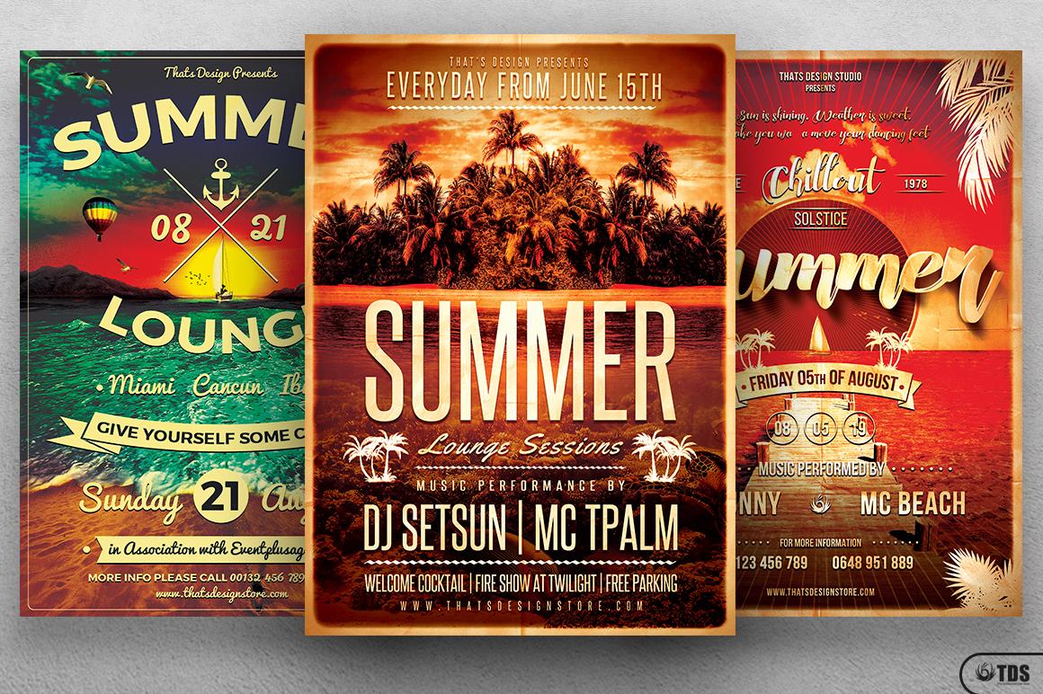 Summer Lounge Flyer Bundle example image 2