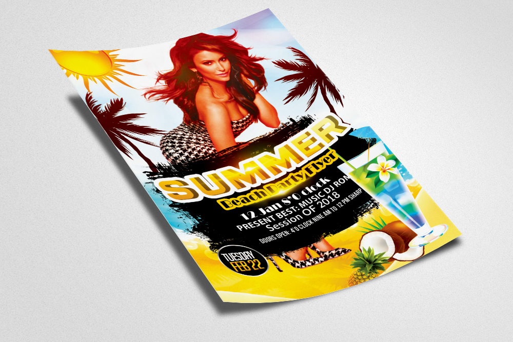 Summer Beach Party Flyer example image 2