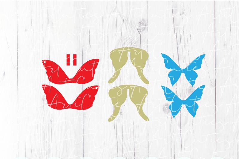 Butterfly earrings template SVG, DIY earrings template example image 2