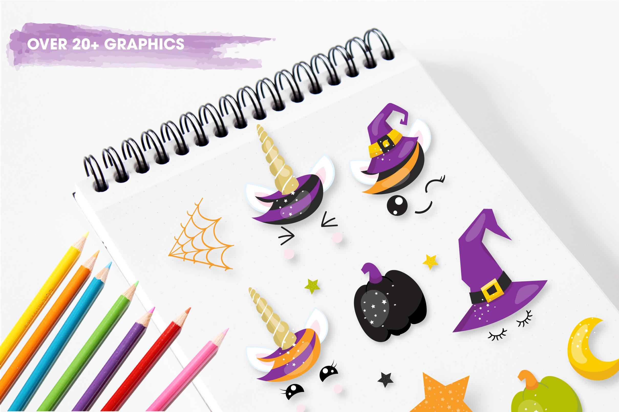 Halloween unicorns graphics and illustrations example image 5