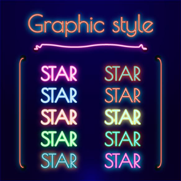 NEON Retro Graphic Styles (AI) 1 example image 3
